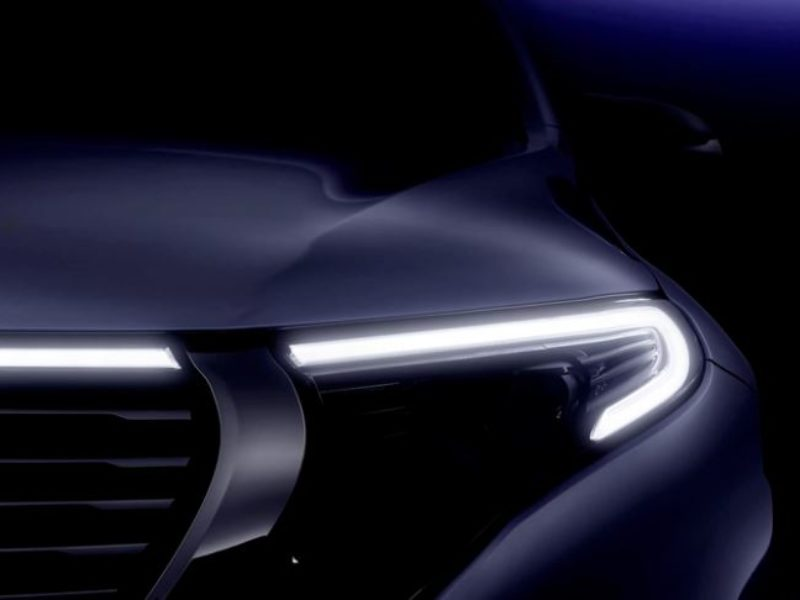 Mercedes-Benz EQC first teaser Video without camo