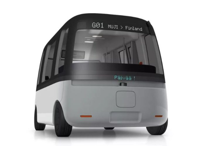 Autonomous electric Bus Gacha from Muji and Sensible 4