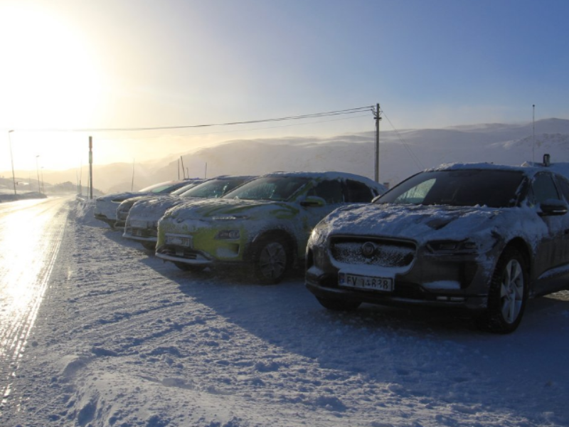 5 Long-range electric cars test in the cold Norwegian winter
