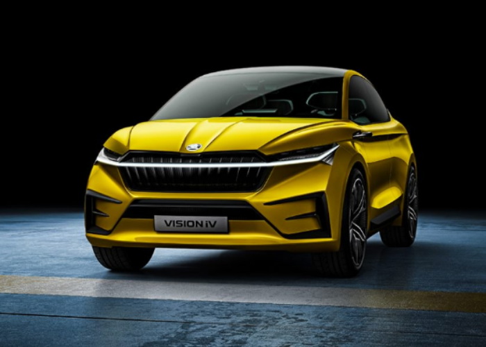 The Skoda Vision iV concept is an electric crossover coupe