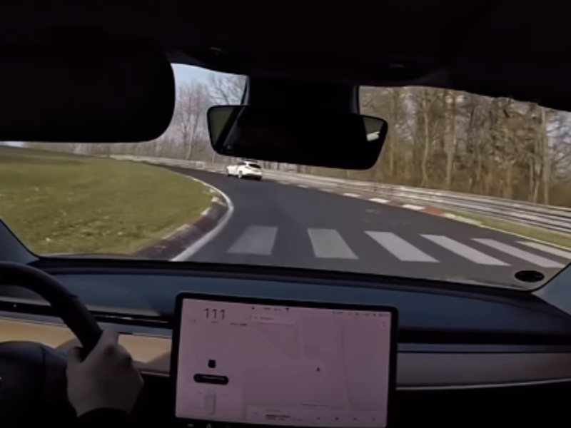 Watch Tesla Model 3 Performance at the famous Nürburgring track