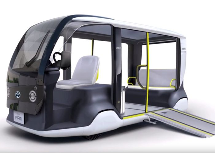 Toyota revealed electric micro-bus for the Olympic Games