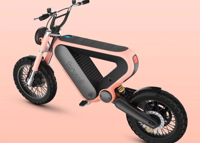 Tryal electric scooter has effectively simple design