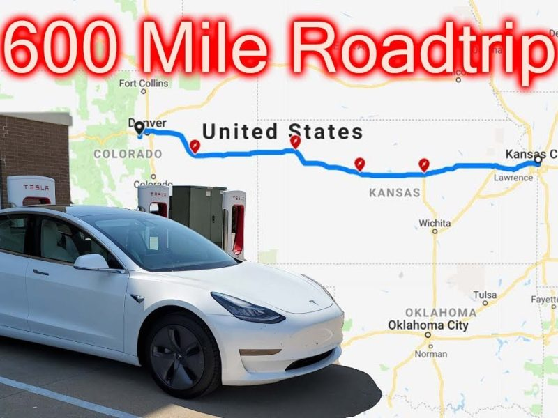 Tesla Model 3 Standard Range Plus 600 miles Roadtrip