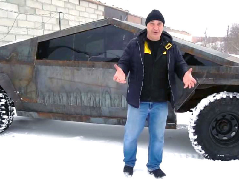 The body of the Russian Cybertruck clone is ready