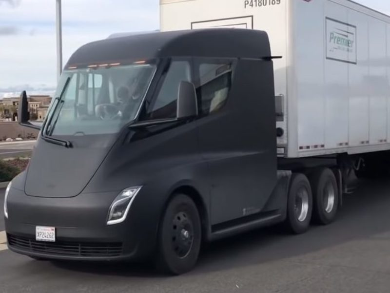 Watch all Tesla Semi Truck captured videos on streets